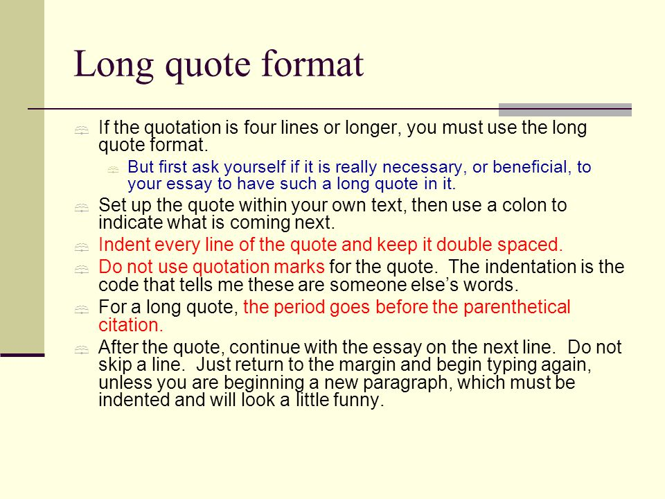 How long can quotes in essays be?