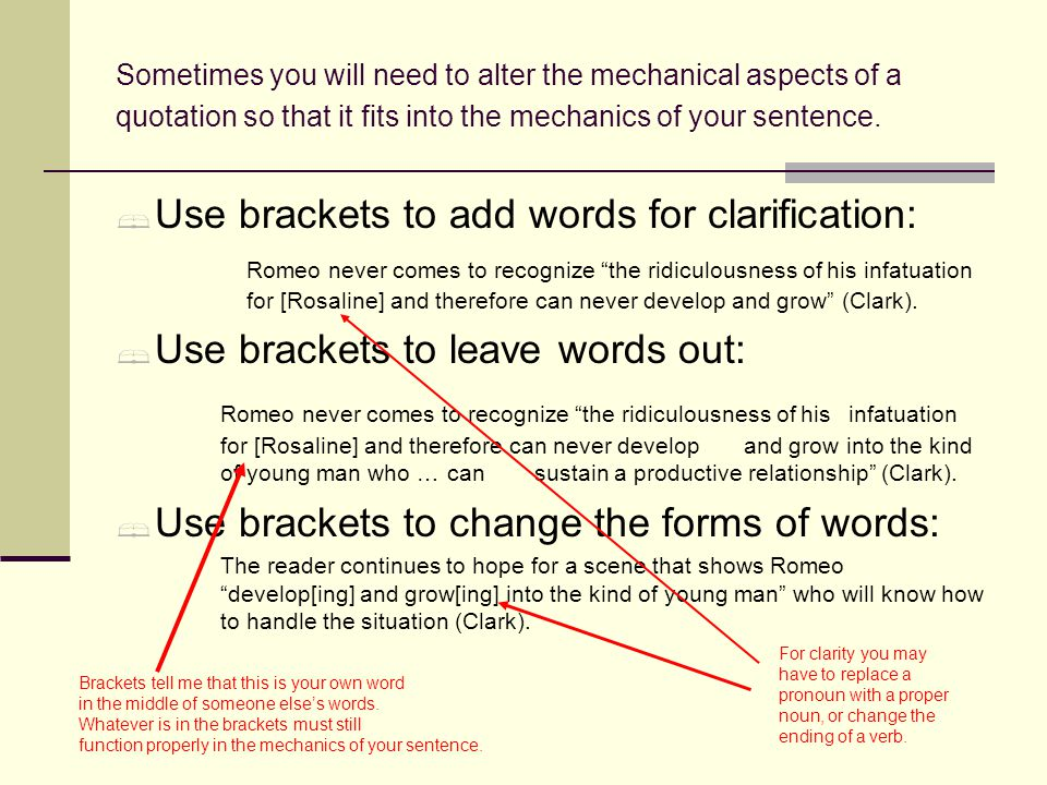can you use brackets in an essay The establishing of subject and object in a sentence is one of the basic starting   this technique can be signalled using commas, brackets or dashes but in each.