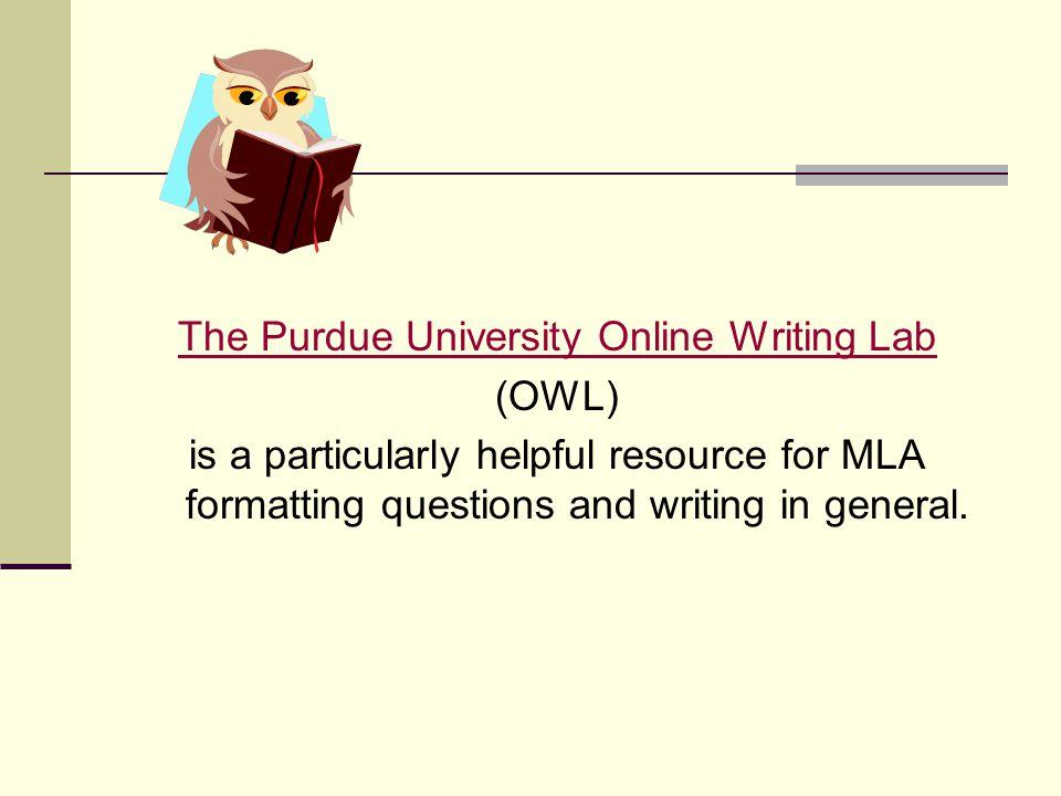 online writing lab
