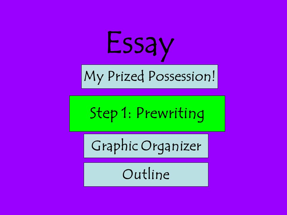 the writing process step prewriting step drafting ppt  2 essay step 1 prewriting my prized possession