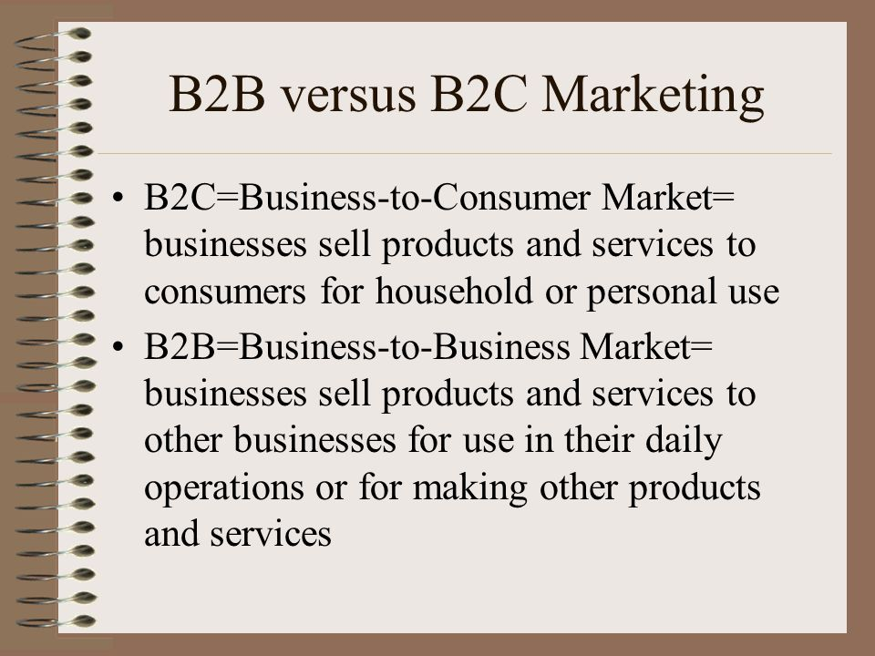 B2b versus b2c marketing b2c business to consumer market for Other uses for household items