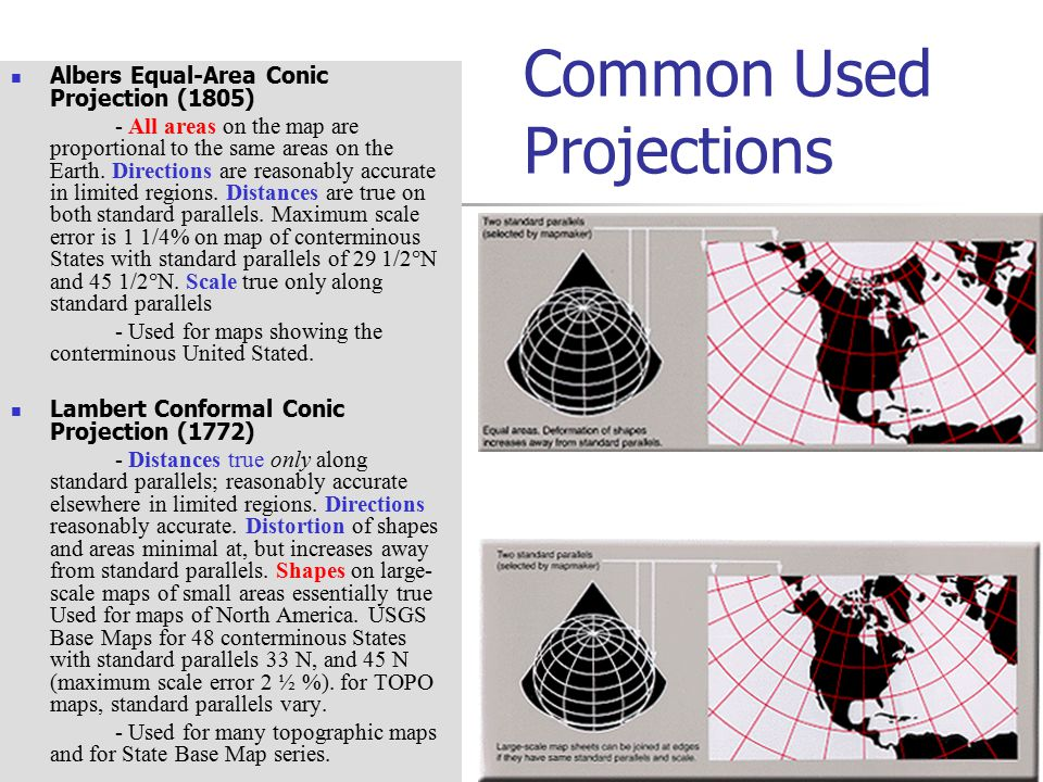 Common Used Projections