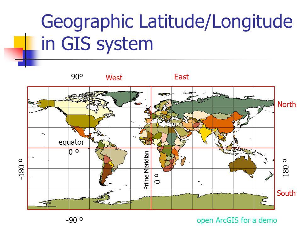 Geographic Latitude/Longitude in GIS system