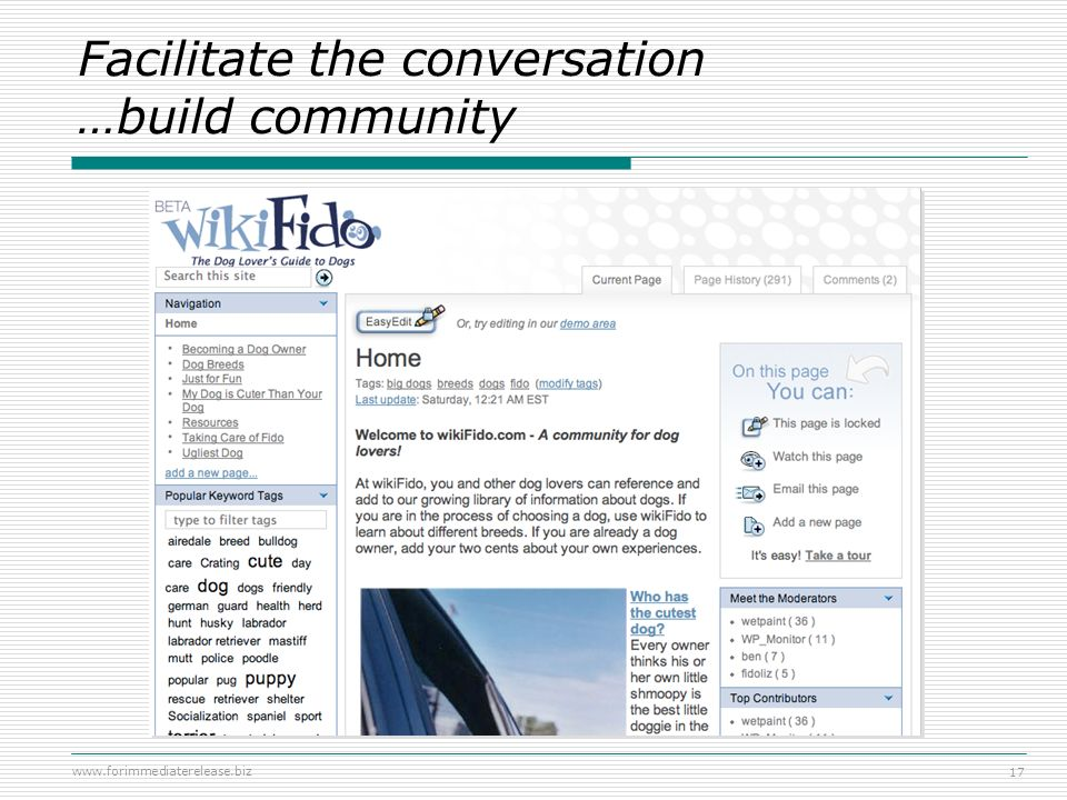 Facilitate the conversation …build community