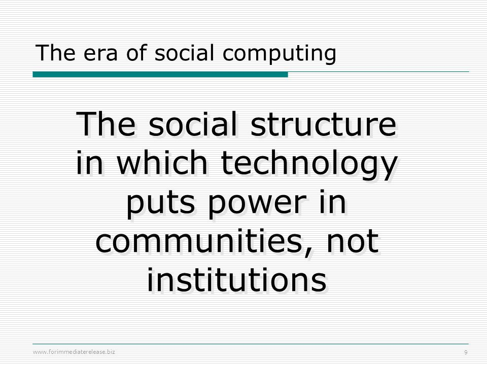 The era of social computing