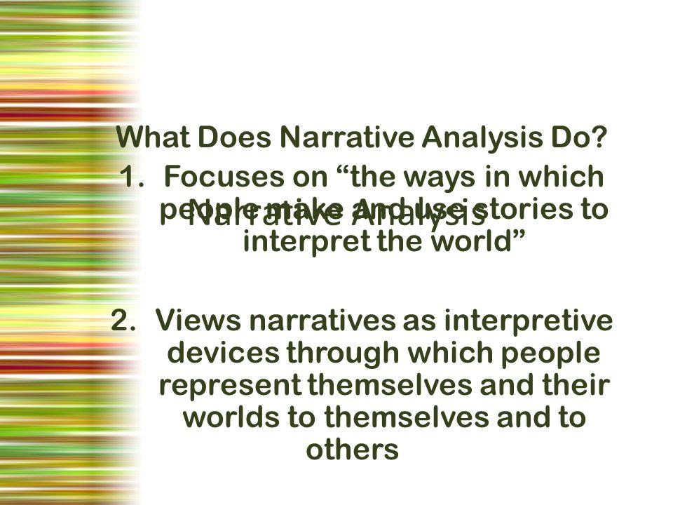 narrative analysis in qualitative research pdf