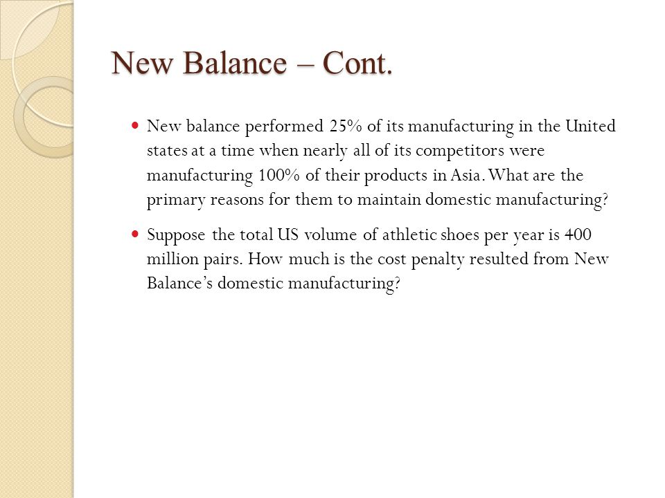 new balance athletic shoes case study analysis ppt