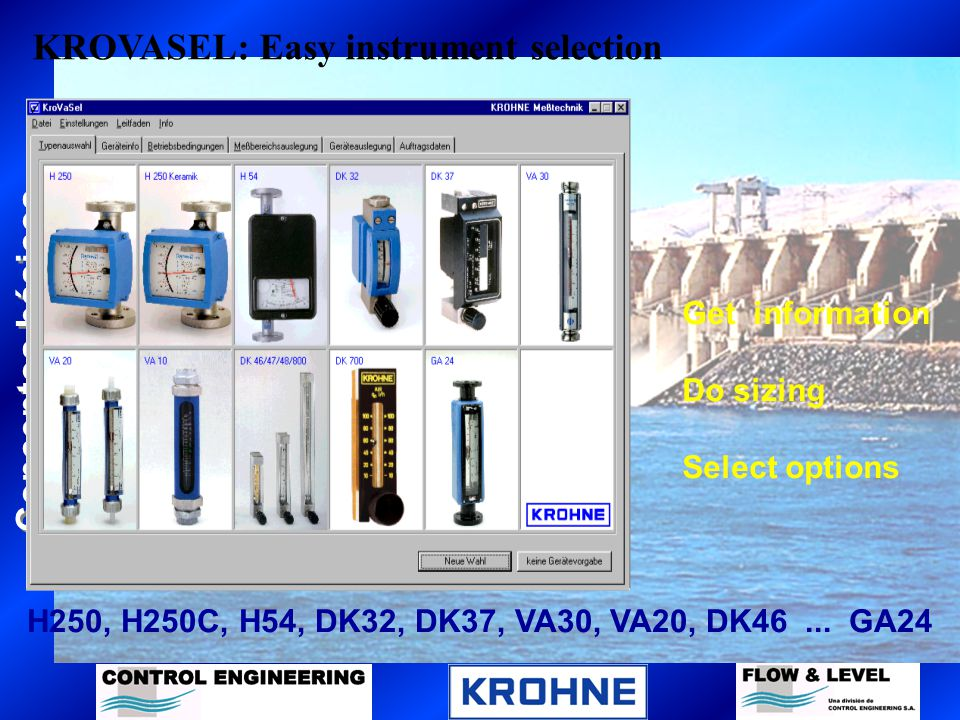 KROVASEL: Easy instrument selection