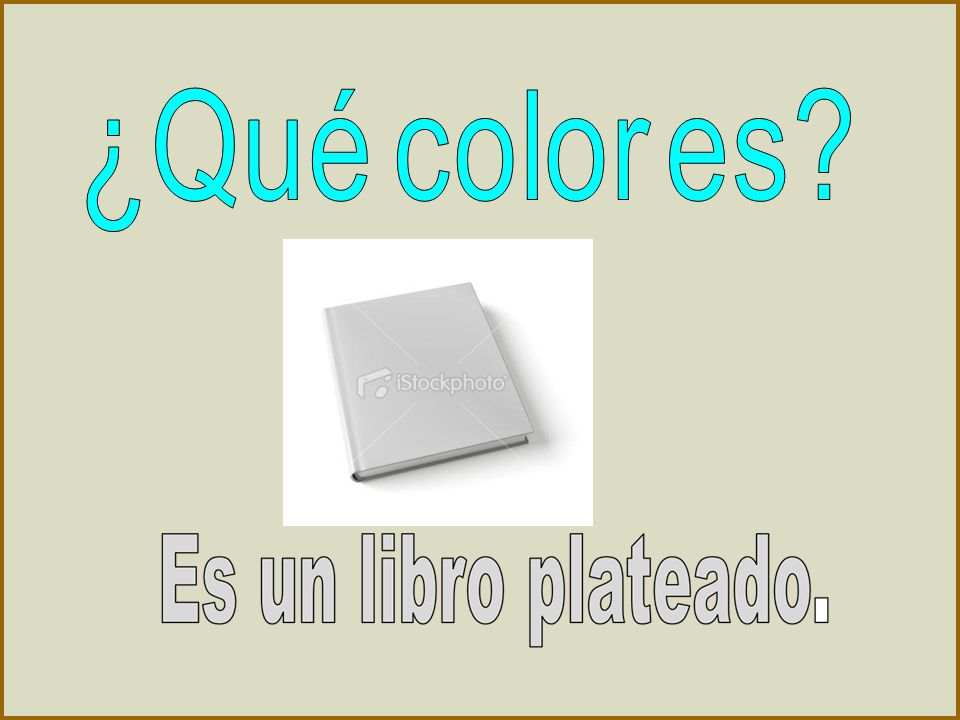 ¿Qué color es