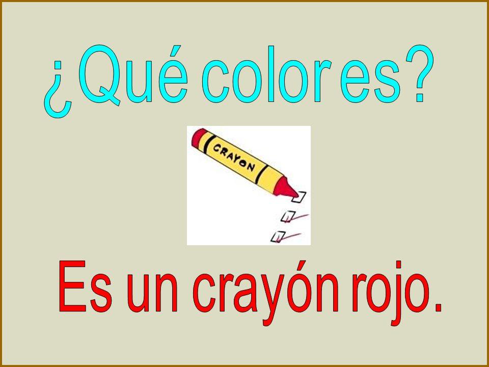 ¿Qué color es Es un crayón rojo.