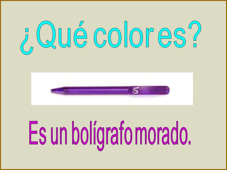 ¿Qué color es Es un bolígrafo morado.