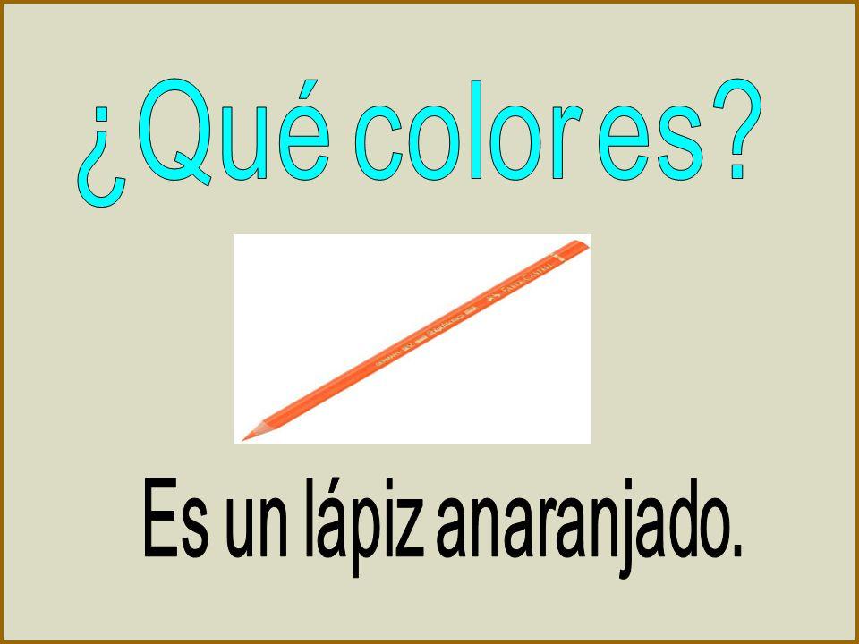 ¿Qué color es Es un lápiz anaranjado.