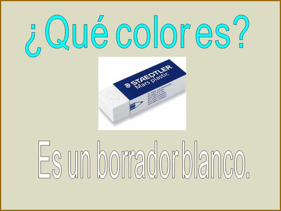 ¿Qué color es Es un borrador blanco.