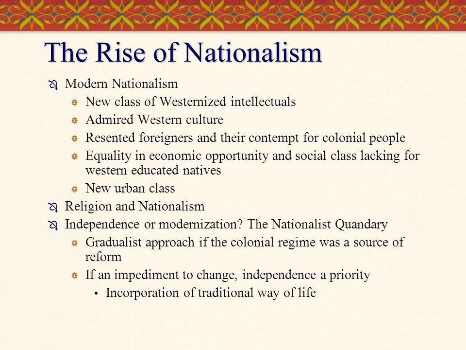 nationalism in latin america After penetrating the new countries of latin america it spread in the early 19th century to central europe  american nationalism was a typical product of the 18th.