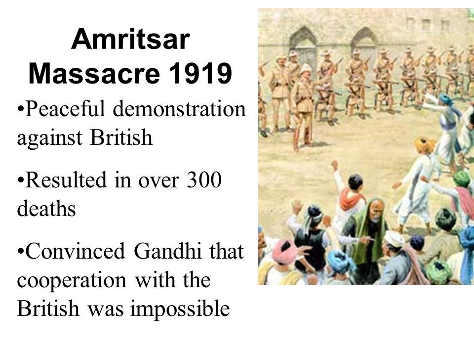 amritsar massacre essay You are an indian nationalist (one who advocates independence from the british) giving a speech to the indian congress party (a group of indian nationalists) in 1922.