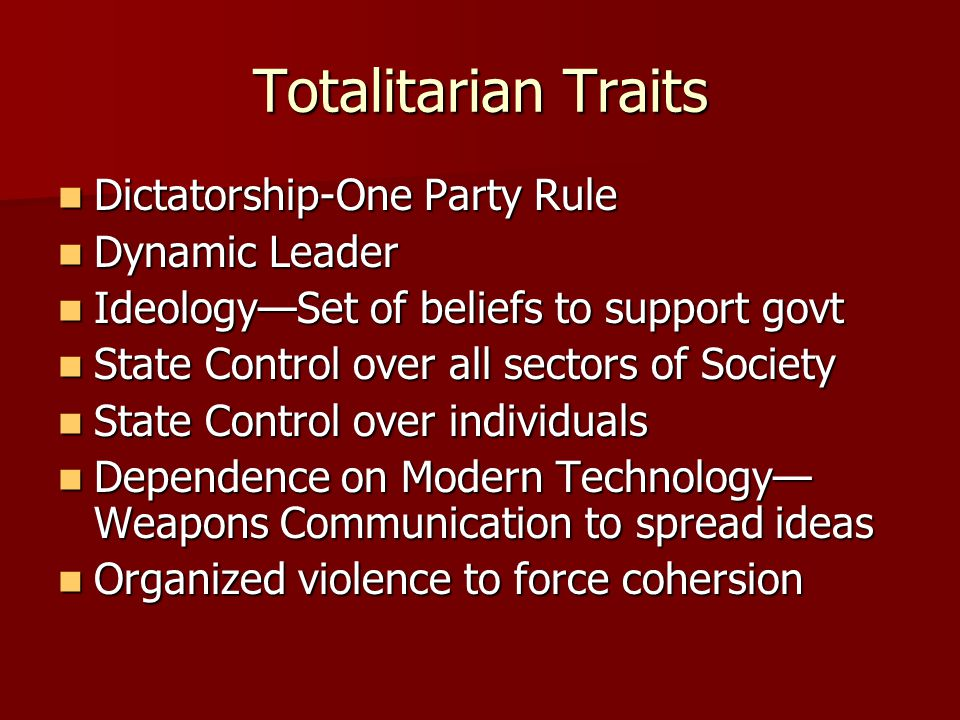 totalitarianism and purge increase stalin Objective 1 describe stalin's rise to power and establishment of his cult of personality insert_drive_file check for understanding: stalin's rise and cult of personality objective 3 describe the terror tactics used by stalin as political policy and explain why a totalitarian leader would use such tactics.
