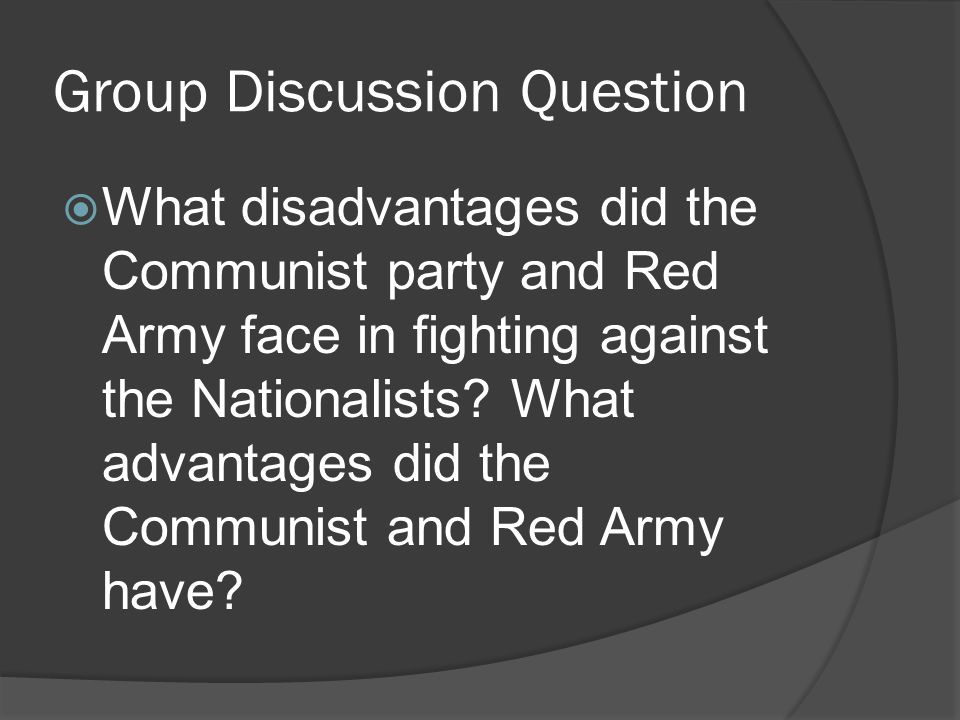 a discussion of the roots of chinese communist The communist party of china  the chinese communist party stands for  all major issues shall be decided upon by the party committees after democratic discussion.