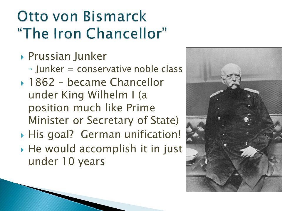 a paper on otto von bismarck and his policies Free essay: otto von bismarck otto von bismarck was a great leader in the unification of germany his skill as a diplomat was unrivalled during his reign as.