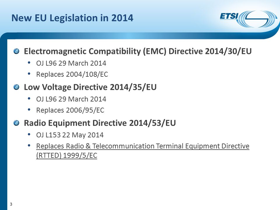 Harmonised Standards and Radio Equipment Directive - ppt ...