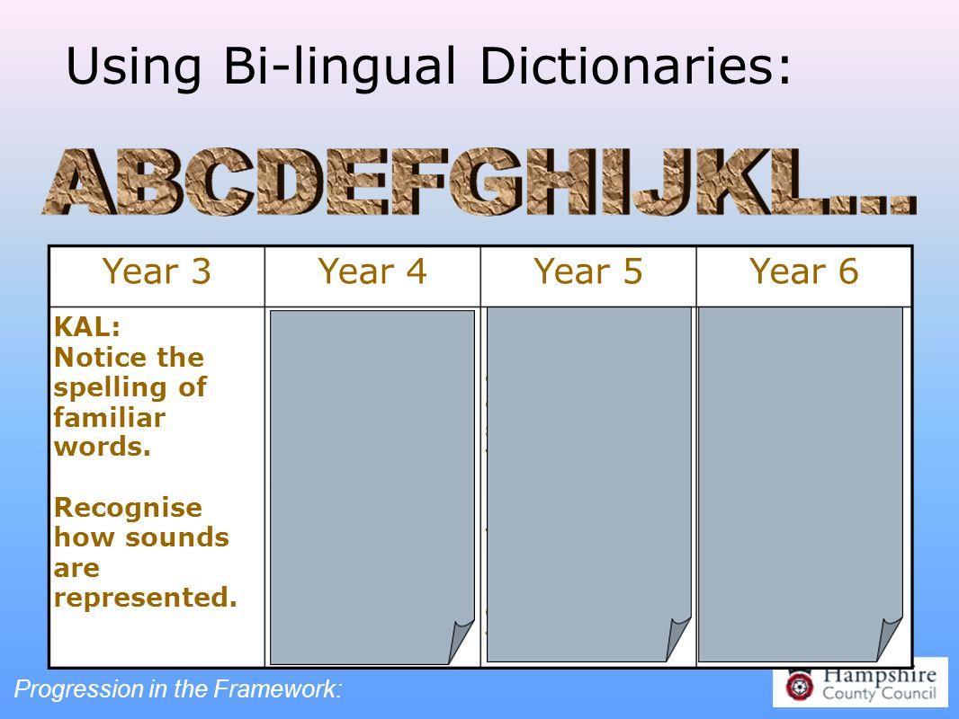 Using Bi-lingual Dictionaries: