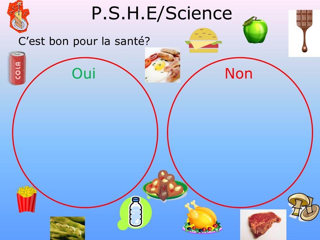P.S.H.E/Science C'est bon pour la santé Oui Non