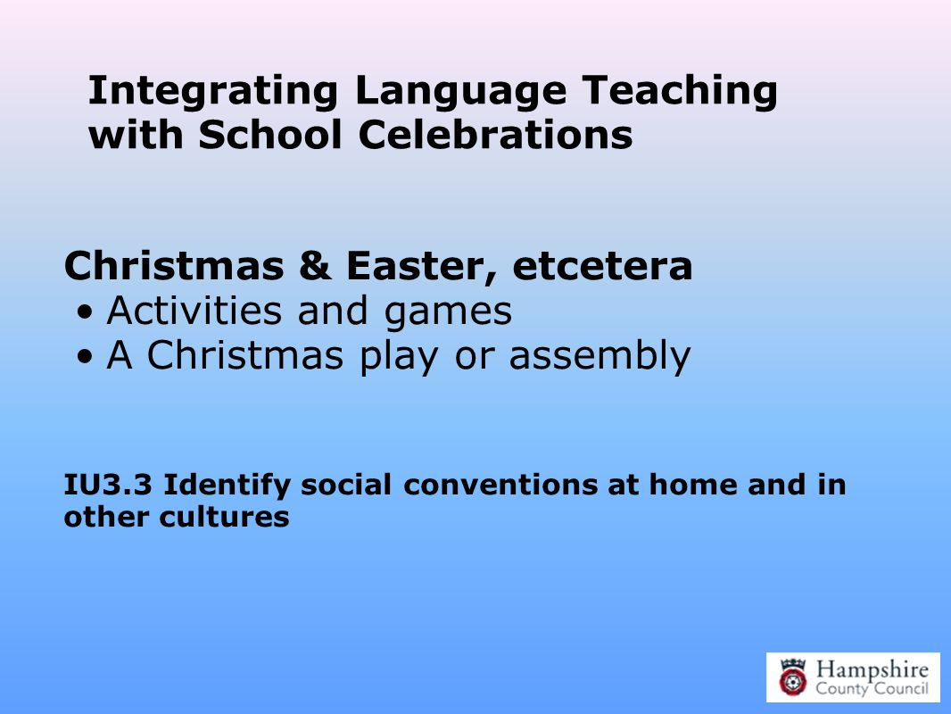 Integrating Language Teaching with School Celebrations