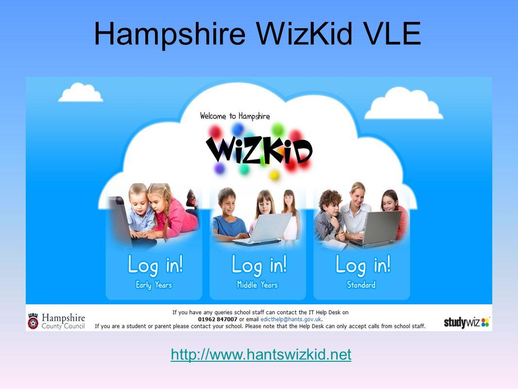 Hampshire WizKid VLE http://www.hantswizkid.net