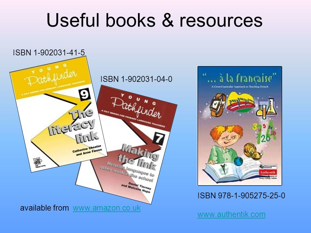 Useful books & resources