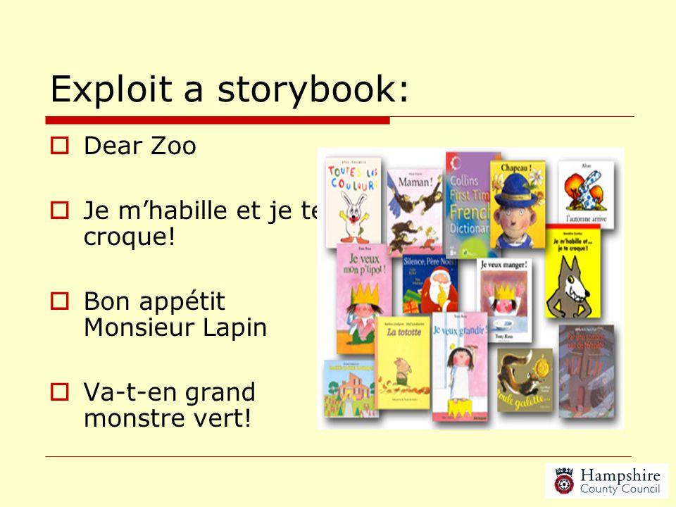 Exploit a storybook: Dear Zoo Je m'habille et je te croque!