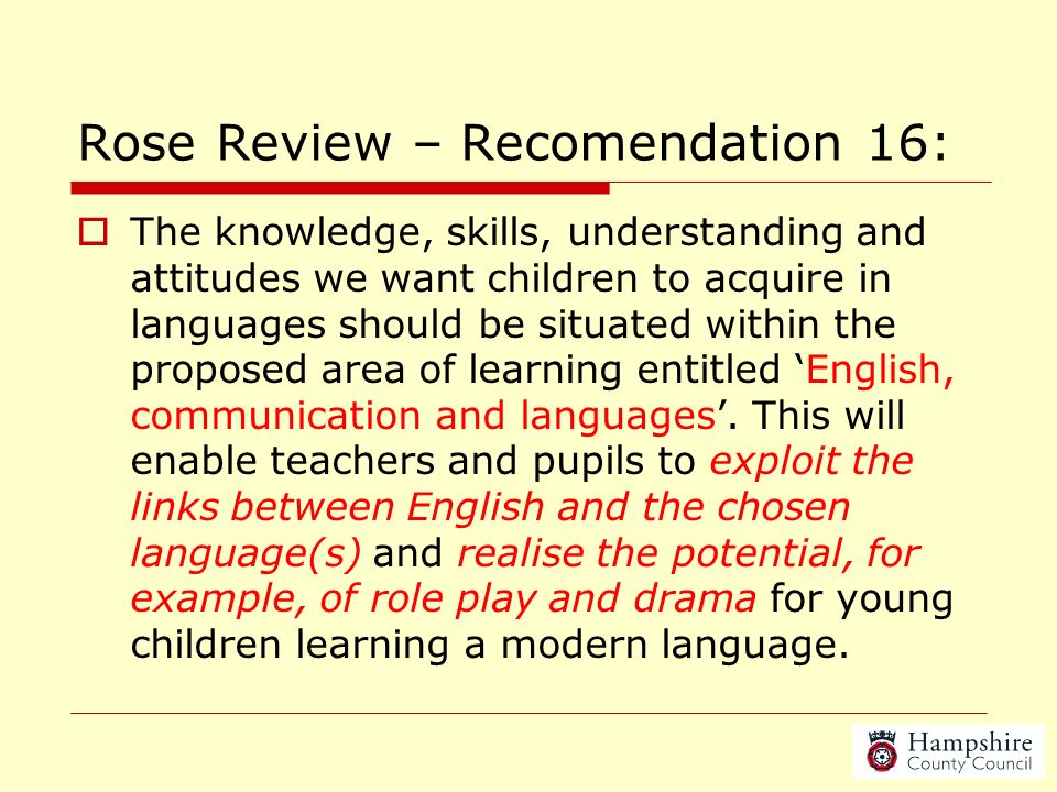 Rose Review – Recomendation 16: