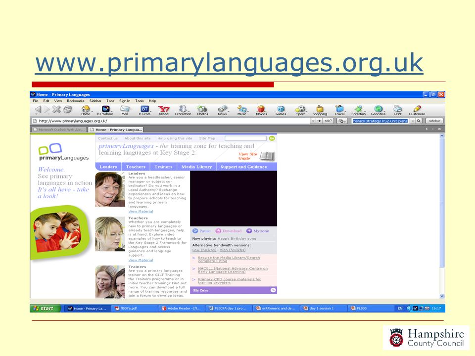 www.primarylanguages.org.uk Need a link