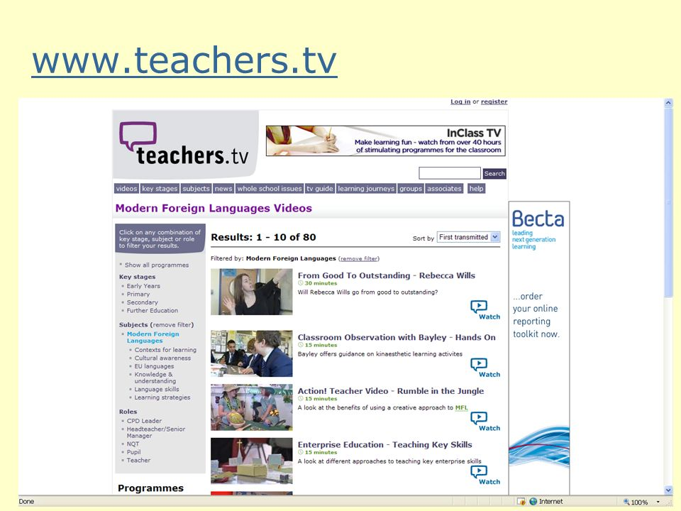 www.teachers.tv