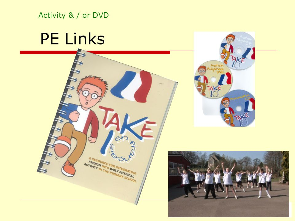Activity & / or DVD PE Links