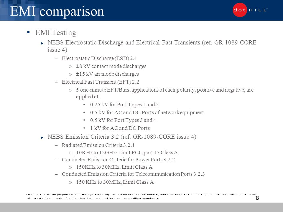 Dot Hill Systems Nebs Equivalency Ppt Download