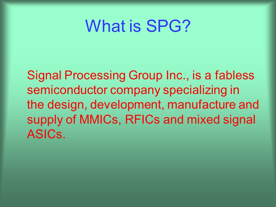 What is SPG