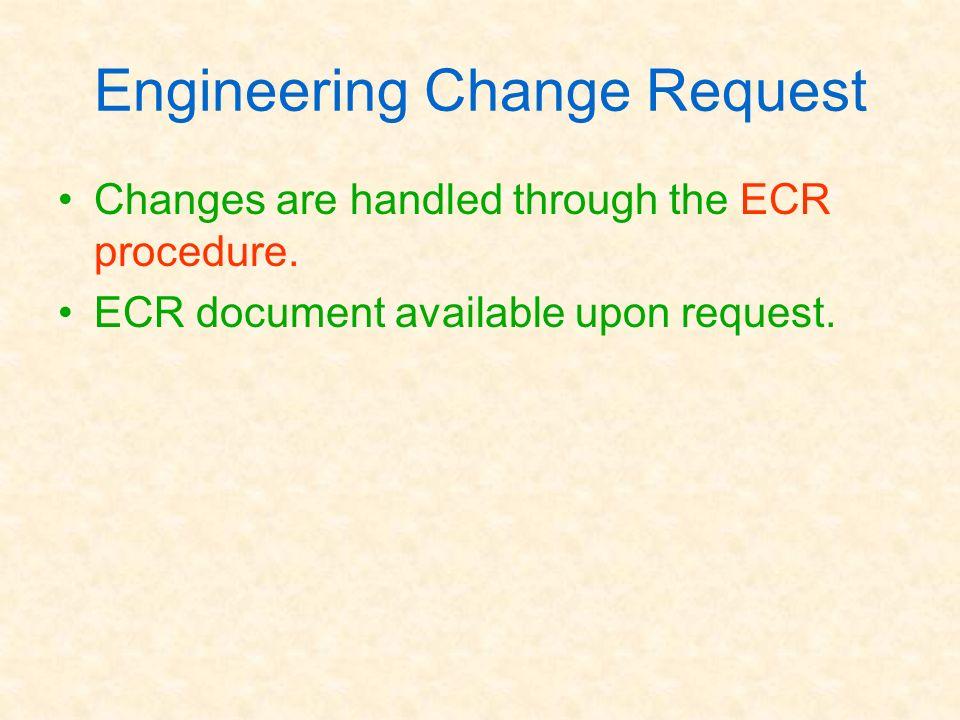 Engineering Change Request
