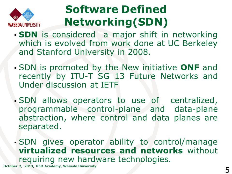 Software Defined Networking(SDN)