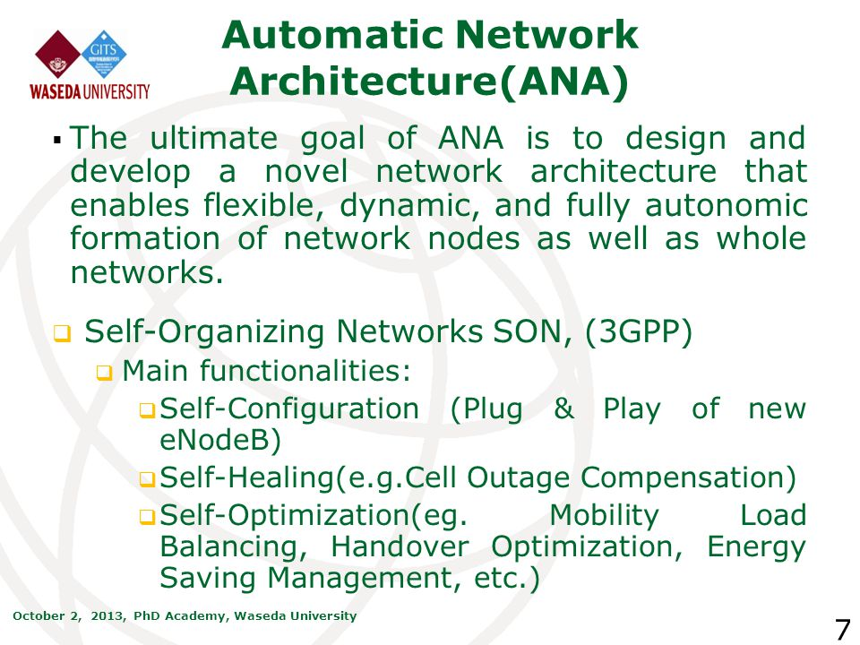 Automatic Network Architecture(ANA)