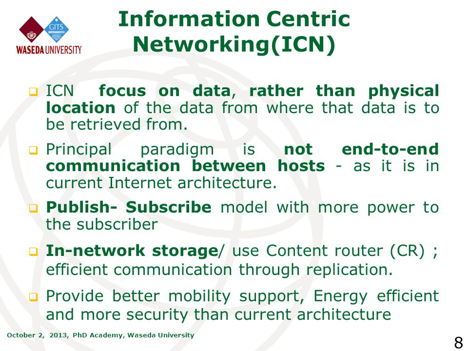 Information Centric Networking(ICN)