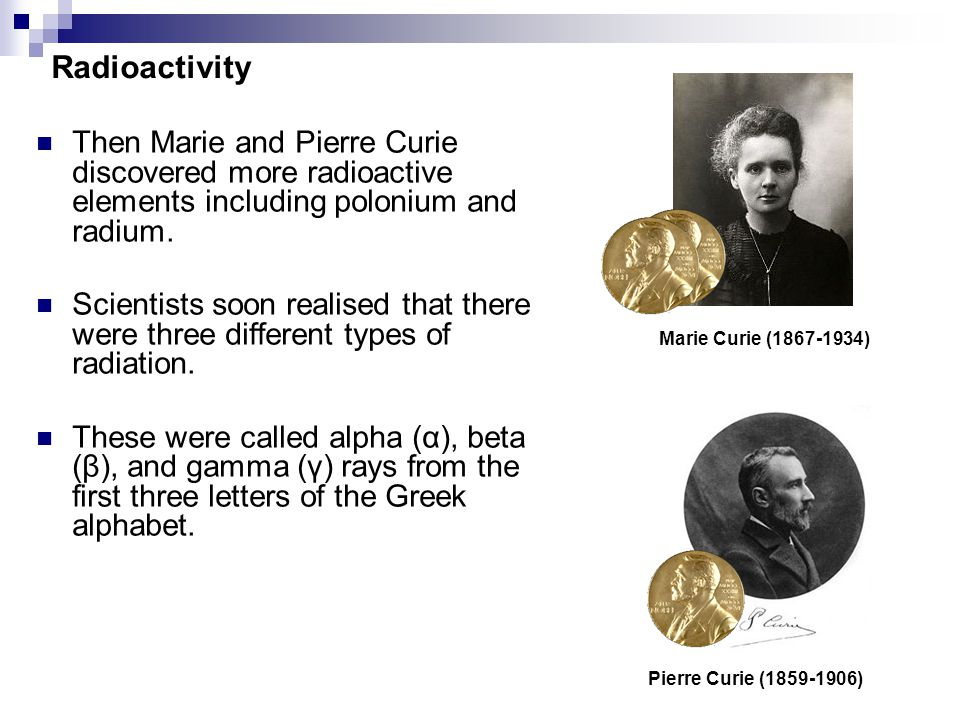 Radioactive Element Discovered By Marie Curie