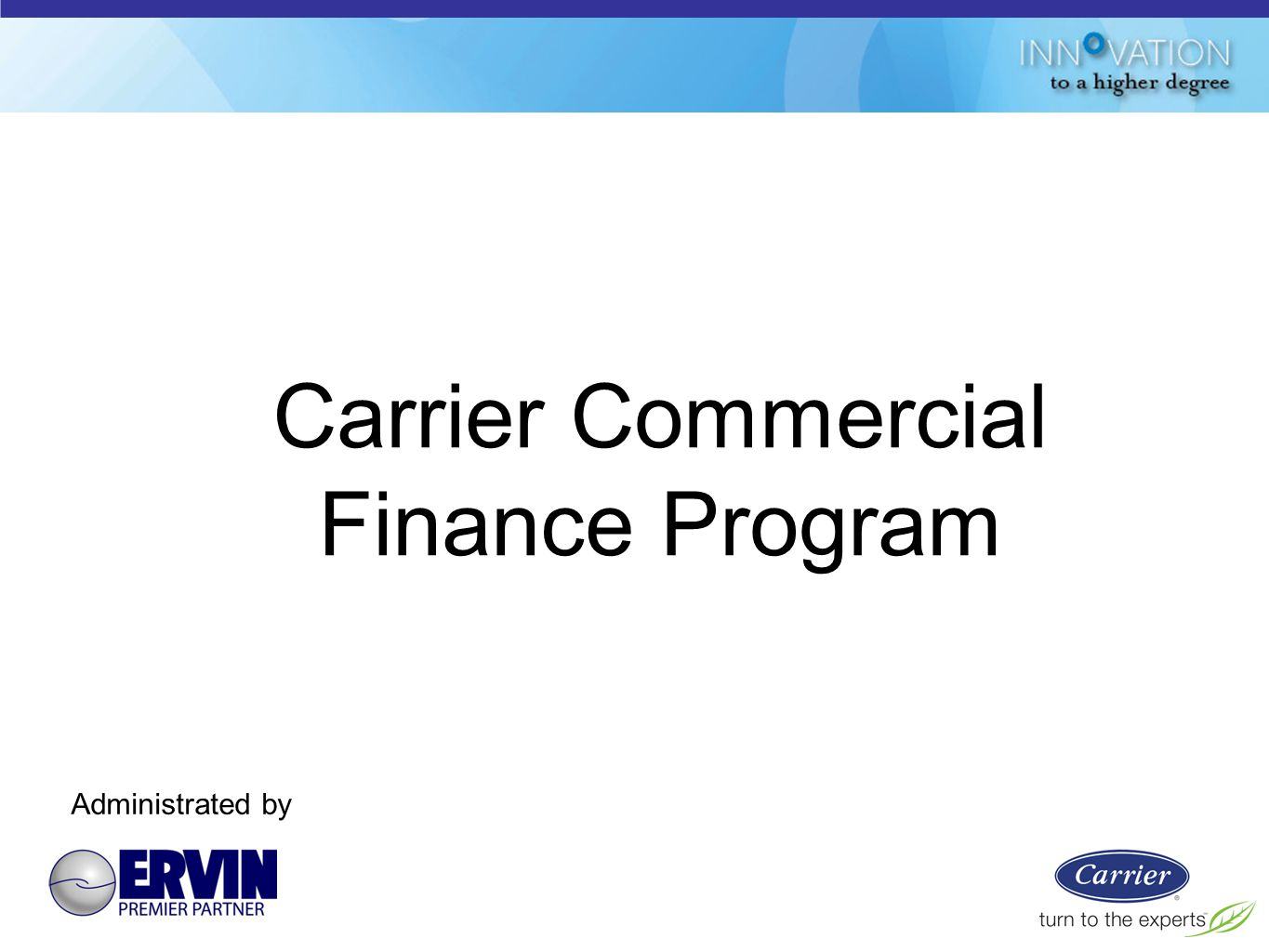 Carrier+Commercial+Finance+Program light commercial rooftops & split systems ppt video online download carrier 48hc wiring diagram at edmiracle.co
