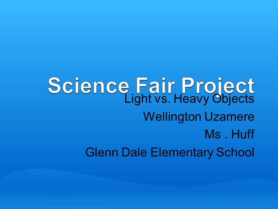 science fair project sun light vs A science fair project is done to investigate something about the natural world, whether it is chemistry, biology, physics, psychology, or another area of science usually, a student starts with an interest in some topic.