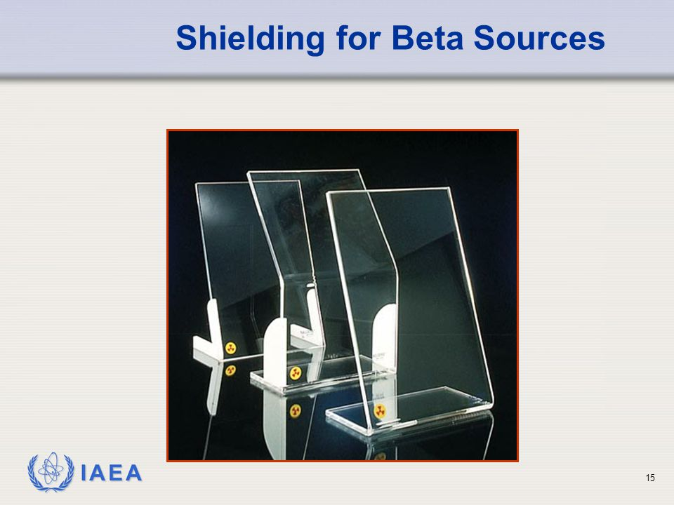 Shielding for Beta Sources