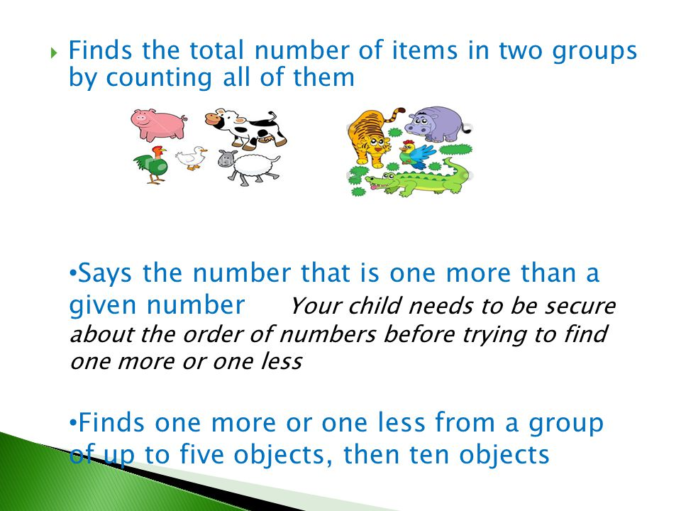 Finds the total number of items in two groups by counting all of them