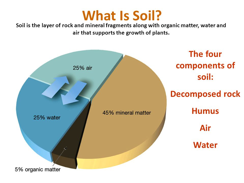 The four components of soil ppt video online download for Mineral soil vs organic soil