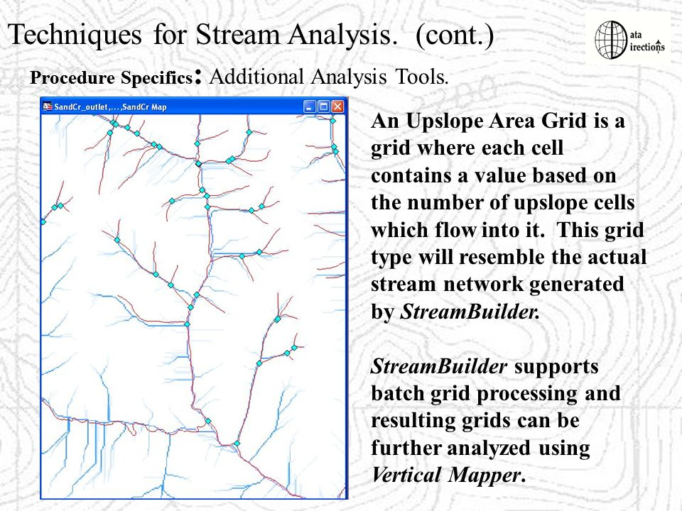 Techniques for Stream Analysis. (cont.)