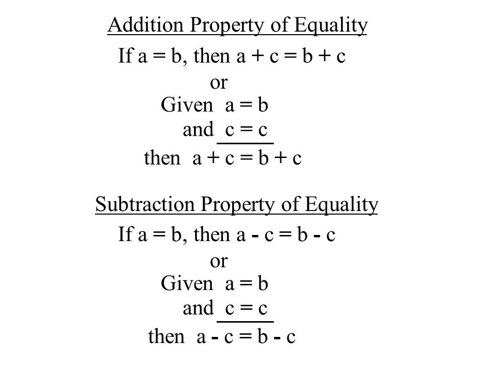 addition property of equality We explain the addition property of equality with video tutorials and quizzes,  using our many ways(tm) approach from multiple teachers this lesson explains .
