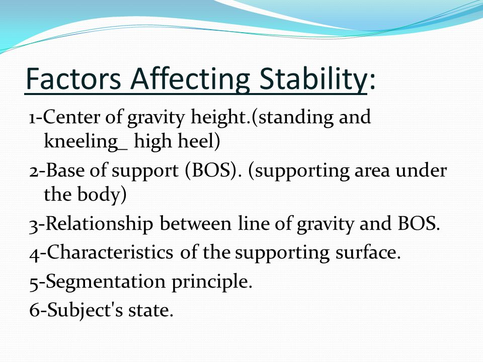 relationship between center of gravity and balance