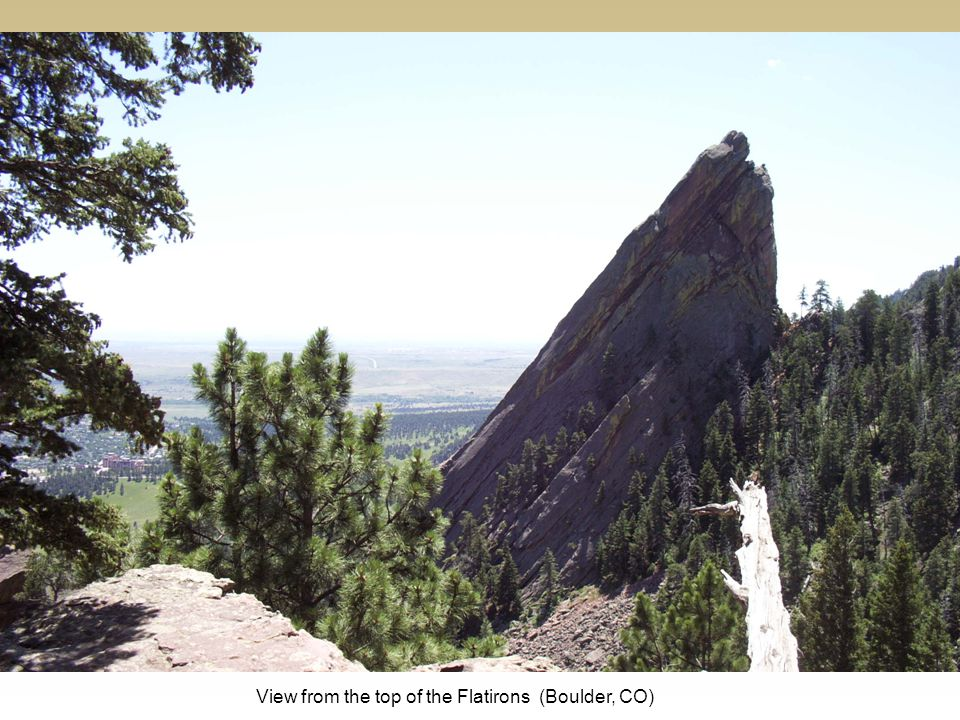 View from the top of the Flatirons (Boulder, CO)