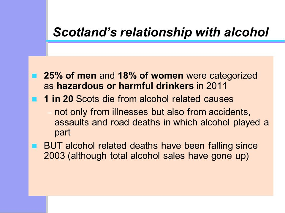 relationship between alcohol and accidents